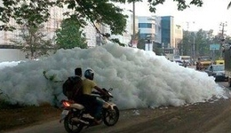 Varthur lake Foam
